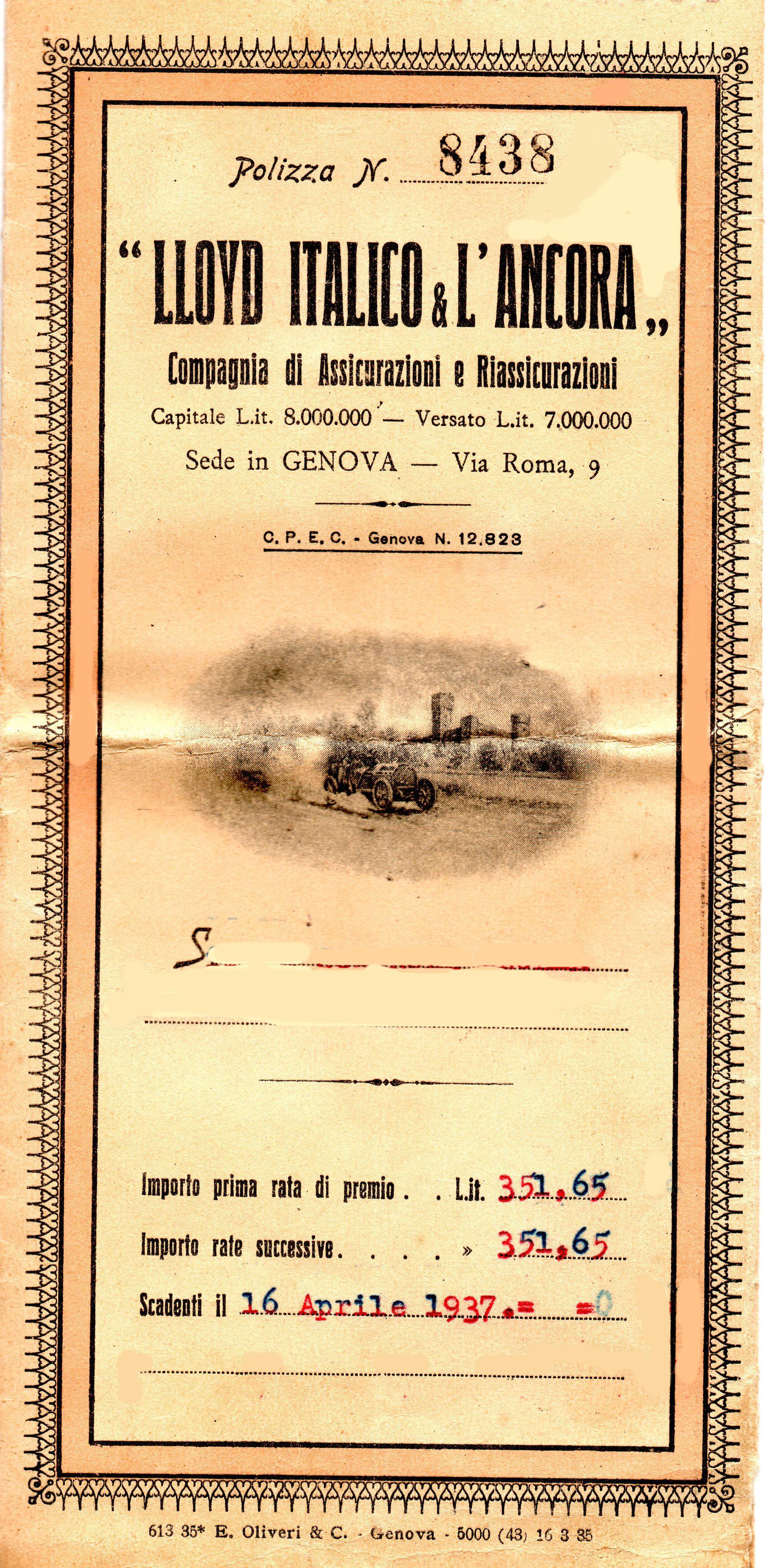 LLOYD ITALICO & L ANCORA