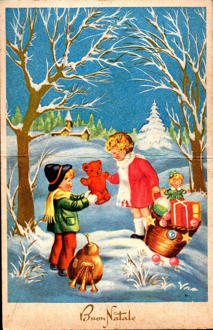 Letterine di natale e cartoline di auguri del passato for Cartoline di auguri per natale